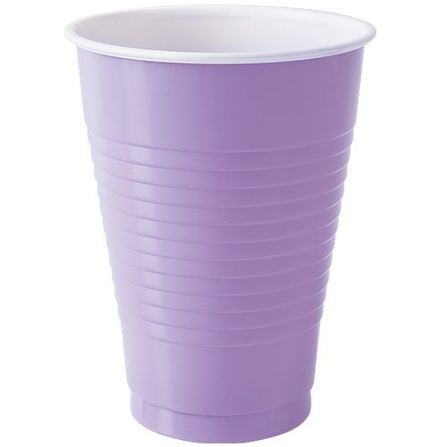 Party Dimensions 80732 20 Count Plastic Cup, 12-Ounce, Hydrangea