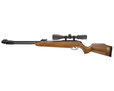 Browning Pellet 820 FPS 0.22 Caliber Air Rifle with Lever Action & Scope, Brown (Best Fixed Barrel Air Rifle)