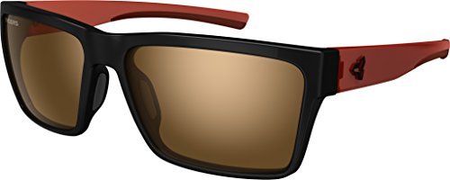 Ryders Eyewear Nelson Black/Dark Red with AntiFog Brown with Silver Flash Lens Brown Silver Flash Lens