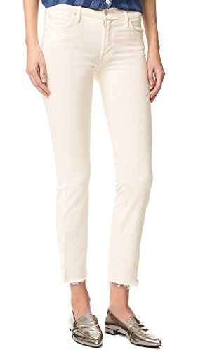 MOTHER Women's Rascal Ankle Snippet Jeans, Whipping the Cream, 27 by MOTHER