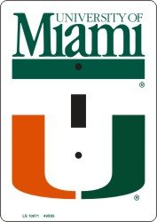 Miami Hurricanes Light Switch Covers (single) Plates LS10071 - Miami Hurricanes Light