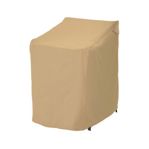 Classic Accessories Terrazzo 58972-EC Stackable Patio Chair Cover CustomerPackageType: Frustration-Free Packaging Color: Sand Outdoor, Home, Garden, Supply, - Stackable Terrazzo