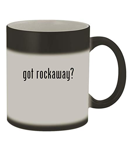 Rockaway Garden Swing - got rockaway? - 11oz Color Changing Sturdy Ceramic Coffee Cup Mug, Matte Black