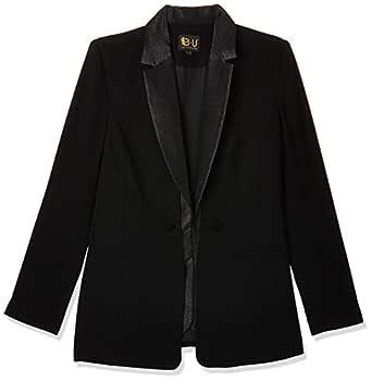 Bee U by Joelle Behlock women's 2tones jacket, black, 44 EU (Manufacturer Size:XX-Large)