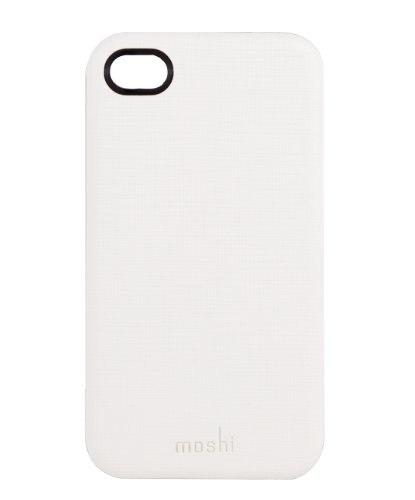 Moshi iGlaze Kameleon Leder Shell-Case für Apple iPhone 4/4S weiß