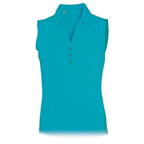 Monterey Club Ladies Dry Swing Stripe Texture Solid Sleeveless Shirt #2435