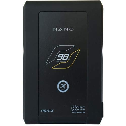 - Core SWX Nano 6.6Ah Lithium Ion Gold Mount Battery Brick with 4 LED Power Gauge (98 Wh, 14.8-Volts)