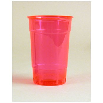 Comet Colors Plastic Party Drinking Cup, 16-Ounce, Hot Pink (500-Count)