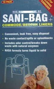 SANI-BAG Commode/Bedpan Liners