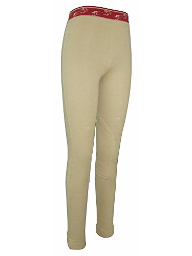 TuffRider Kid's Cotton Schoolers, Light Tan, 12 Tuffrider Tights