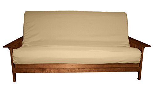 (Better Fit Machine Washable Upholstery Grade Futon Cover , Full 8-inch Loft-size, Twill Khaki)