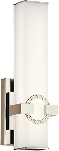 Bordeaux Collection - Kichler Lighting 45876PNLED LED Wall Sconce from The Bordeaux Collection, Polished Nickel