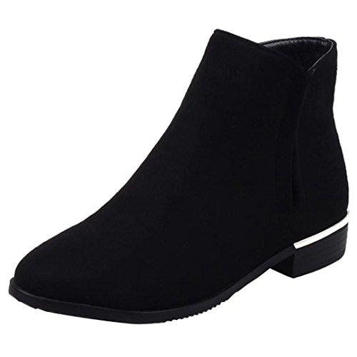 AIYOUMEI Women's Classic Boot Black XYhAy7