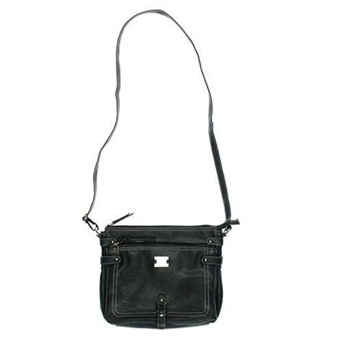 Style & Company Precious Cargo Black Crossbody Handbag SC9056LGE Brown Pastport X-Body Luggage Crossbody Handbag