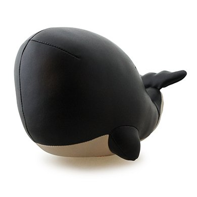 Zuny Series Sperm Whale (Jojo) Black Animal Bookend by Zuny
