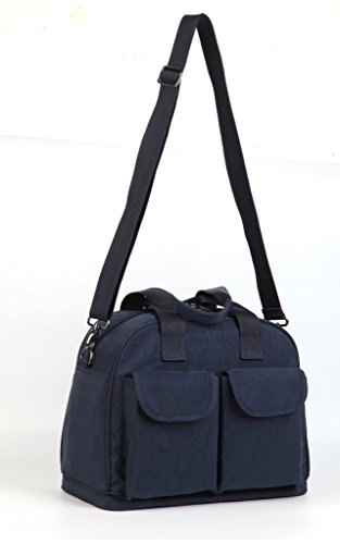 LCY multifunción de gran capacidad Baby pañal bolso cambiador Bolso Messenger Bag Dark Blue/Apricot azul marino
