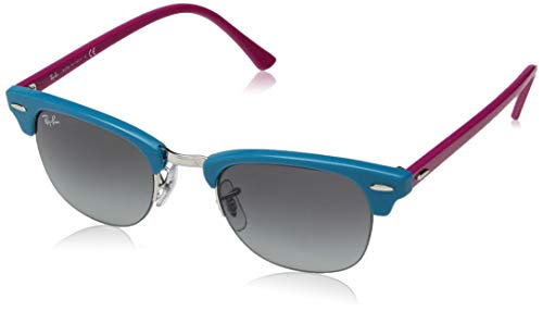 Ray-Ban RB4354 Round Sunglasses, Turquoise/Grey Gradient, 48 mm (Billig Ray Ban Style Sonnenbrille)