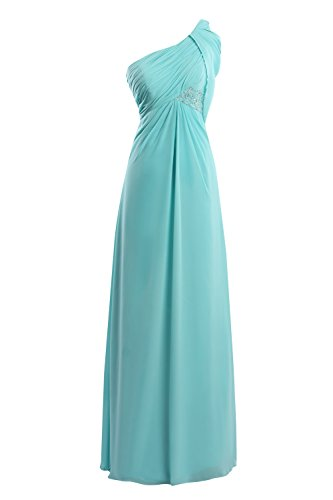 Dora Bridal Women's One Shoulder Chiffon Long Prom Bridesmaid dress US4
