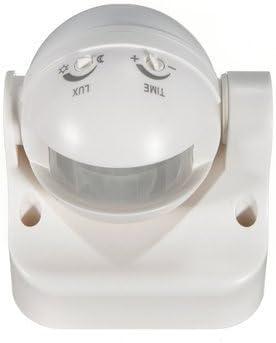 Interruptor de detección de sensor de movimiento Pir de seguridad de 180 grados al aire libre blanco: Amazon.es: Bricolaje y herramientas