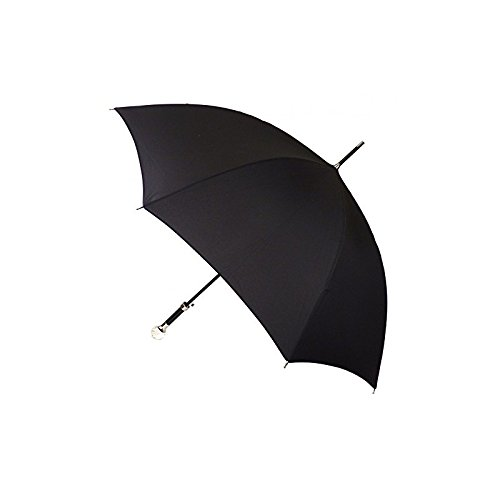 Guy de Jean - Luxury Black Rain Stick Umbrella with Sculpted Crystal Knob - Black by Guy de Jean