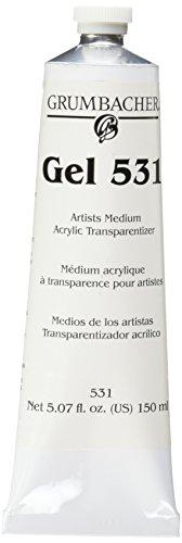 Grumbacher Acrylic Transparentizer Gel 531, 5.07 oz. (Glitter Gel Tube)