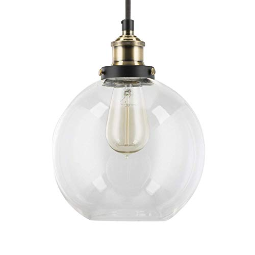 Modern Nordic Metal Ceiling Pendant Light - YIKEGE Minimalist Mini Hanging Lighting Pinecone Style 9.84in Wide Fixture Light for Kitchen Dining Room Bars Loft ()