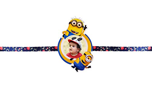 Pixelkari Rakhi and Fridge Magnet Style 04  Minion, Multicolor