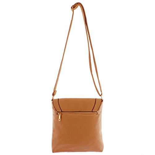 Purse Cry Fever Tote Fashion Camel Handbag Indie Small Silver Crossbody W Style Designed Hipster 4BRWtqw
