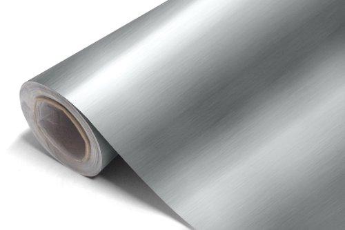Brushed Aluminium Vinyl wrap -Different Sizes & Colours (30cm x152cm, Silver) Diversity eTrade