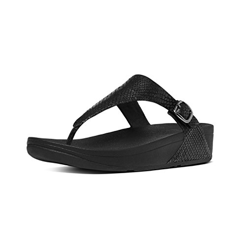Tm cross Infradito The Nero Fitflop all Black Sandal Skinny Leather Z 424 Donna HOxgqwEn