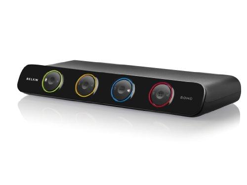 Belkin Soho KVM-Umschalter (4-Port, USB, DVI, inkl. 1,8m Kabel)