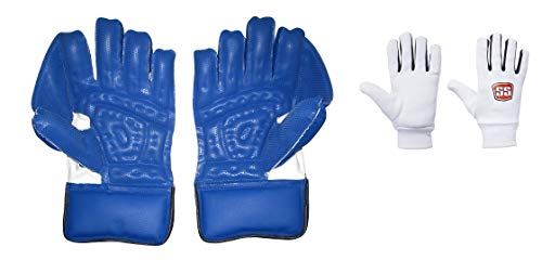 SS Catcher Premium Cricket Wicket Keeping Gloves , Men