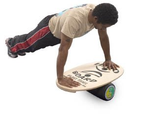 INDO BOARD Original Balance Board with 6.5'' Roller and 30'' X 18'' Non-Slip Deck - Blue Swirl Design by INDO BOARD (Image #5)