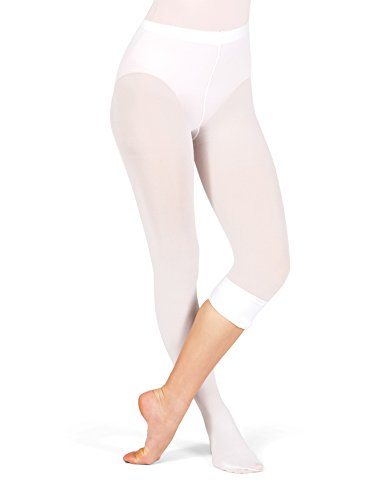 Adult Plus Size Convertible Tights with Smooth Self-Knit Waistband T5515PBLK1X2X Black 1X2X (Dance Tights Plus)