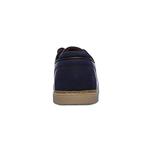 Skechers 65269 Heren Lanson-vernes Oxford Schoen Donkerbruin