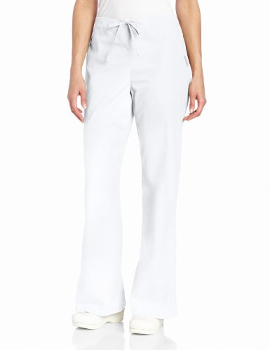 Everyday Scrubs Flare Leg (Landau Women's Natural Flare Scrub Leg Pant, White,)