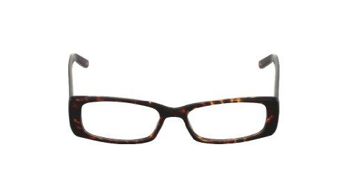Flutter Women's Lisbeth Cognac Kyoto clear Lens rectangle 52MM Glasses 2 - Eyewear Kyoto