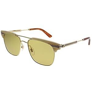 Gucci GG0287S Plastic Square Sunglasses 52 mm
