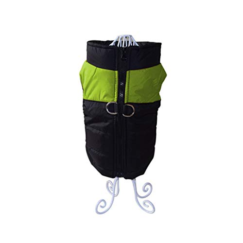 (Waterproof Pet Dog Vest Jacket Winter Coat for Small Medium Dog Green XXL)