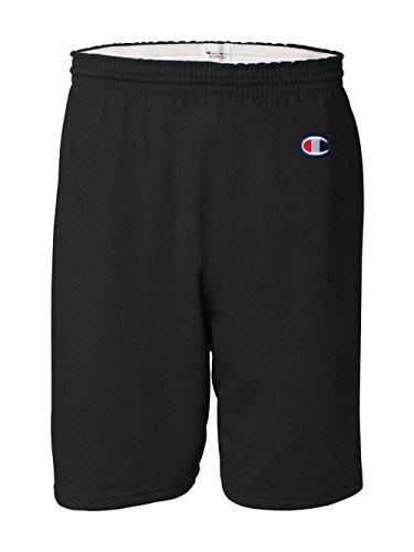 Jersey Mens Short Champion (Champion Men's  6-Inch Black   Cotton Jersey Shorts - X-Large)