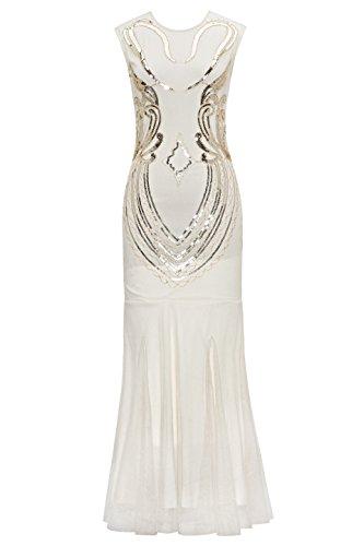 Metme Women\'s 1920s Vintage Sleeveless Beaded Great Gatsby Theme ...