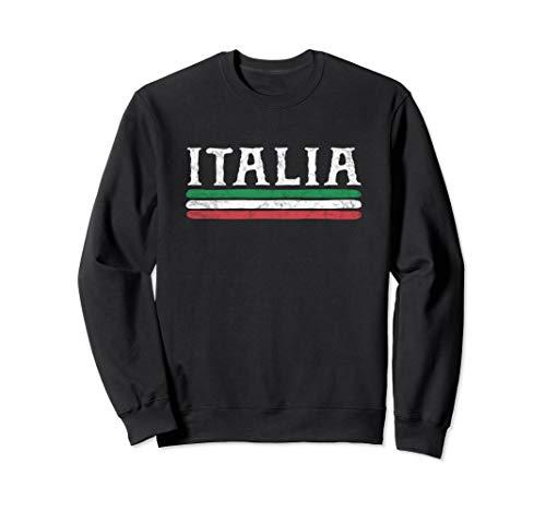 Vintage Italy Sweatshirt Italia Love Souvenir Italian Flag (Sweatshirt Italy Classic)