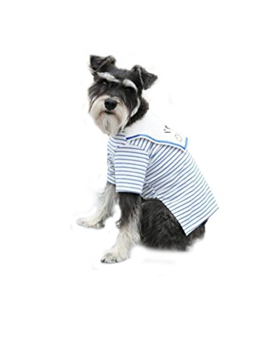 (Dog Shirts Pet Summer Clothes Puppy Clothing Tee for Small Dogs Stripe Blue S)