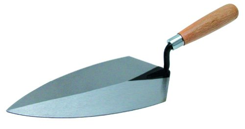 QLT By MARSHALLTOWN 96 10-Inch by 5-Inch Brick Trowel Philadelphia Pattern with Wood Handle