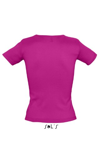 Sols - Lady V - Damen V-Neck T-Shirt , Fuchsia , M