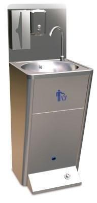 Standwaschbecken Fussbedienung Edelstahl Handwaschbecken