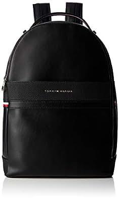 Tommy Hilfiger Men's TH Business Backpack, Black, One Size