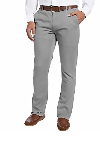 Kirkland Signature Men's Chino Pant Tailored Fit Straight Leg - 34W x 34L - Smoke