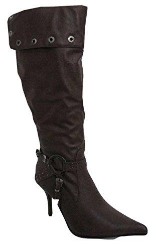 12176b Marron Bottes Stiletto Foncé Casandra Bague Sangle Y8nxadqF