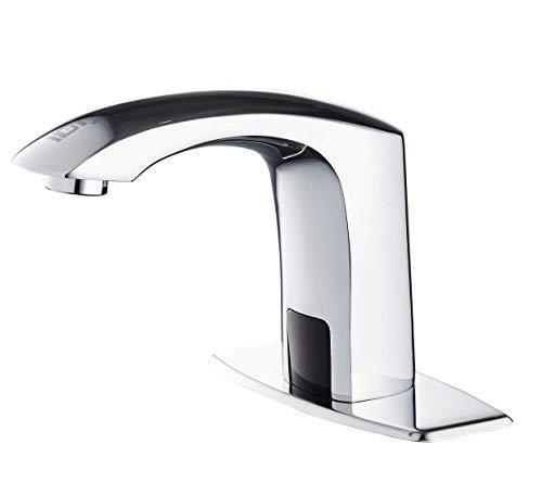 Gangang Grifo Para lavabo de Baño,Grifo con Sensor,Grifo sin Contacto,llave con Sensor Automático Manos libres,Hecho de…